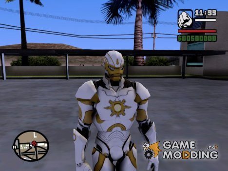 Ironman MK 3 Space GoTG White for GTA San Andreas