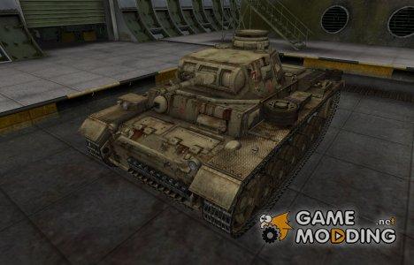 Исторический камуфляж PzKpfw III for World of Tanks