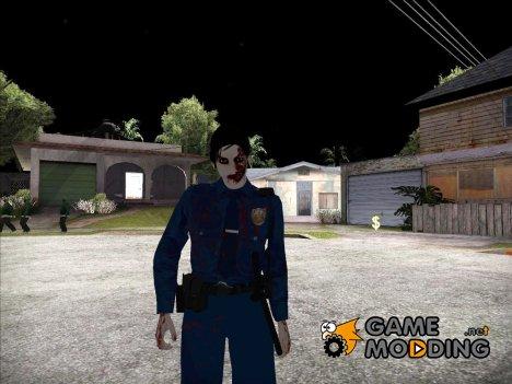Female Zombie Cop для GTA San Andreas