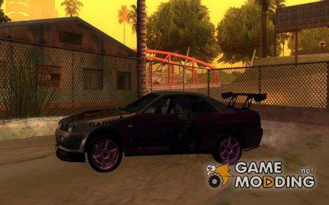 Nissan Skyline R34 Tuned Itasha для GTA San Andreas