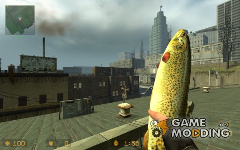 trout knife для Counter-Strike Source