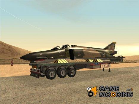 Полуприцеп с самолетом F-4E Phantom II for GTA San Andreas