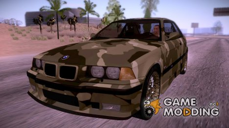 BMW E36 M3 Camo Drift for GTA San Andreas