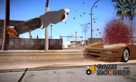 Вылет при аварии v1 for GTA San Andreas