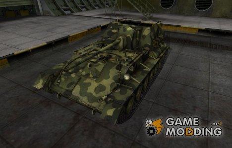 Скин для СУ-76 с камуфляжем for World of Tanks
