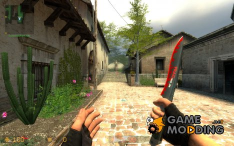 FRAGnet.de Knife Skin for Counter-Strike Source
