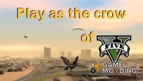 Возможность из GTA V играть за птицу v.1 for GTA San Andreas