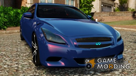 Infiniti G37 2008 Black Shark Pro-Service for GTA 4