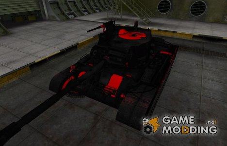 Черно-красные зоны пробития M46 Patton для World of Tanks