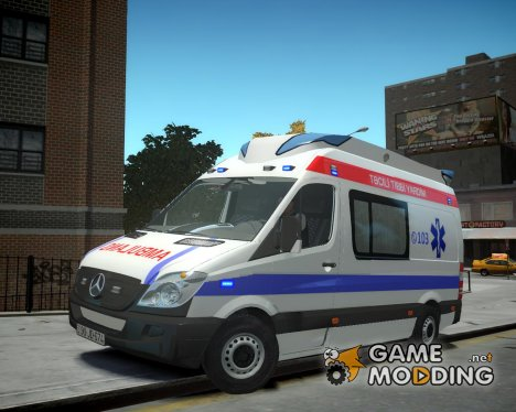Mercedes-Benz sprinter baku ambulance for GTA 4