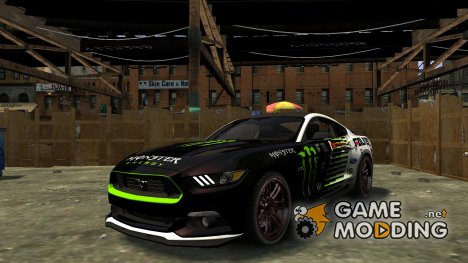Ford Mustang GT 2015 Custom Kit monster energy for GTA 4