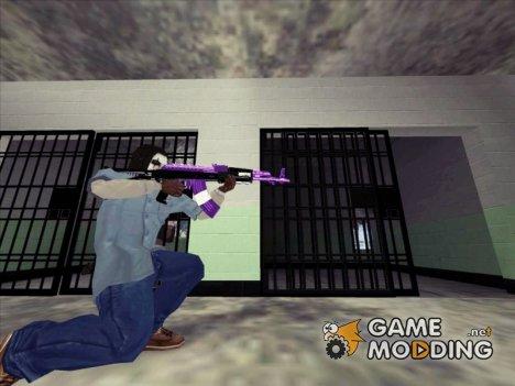 Фиолетовый AK47 для GTA San Andreas