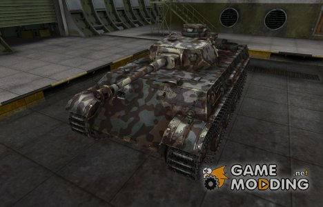 Горный камуфляж для PzKpfw V/IV для World of Tanks