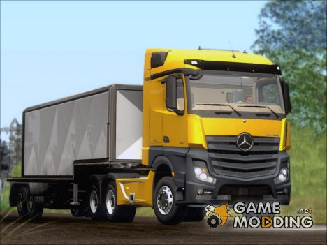 Mercedes-Benz Actros MP4 Stream Space black  6x4 V2.0 for GTA San Andreas