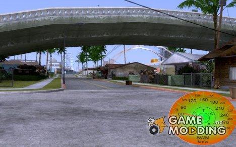 Спидометер v.2.0 для GTA San Andreas