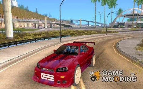 Nissan Skyline R34 FastFurios for GTA San Andreas