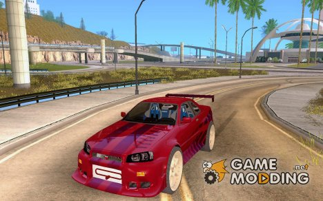 Nissan Skyline R34 FastFurios для GTA San Andreas