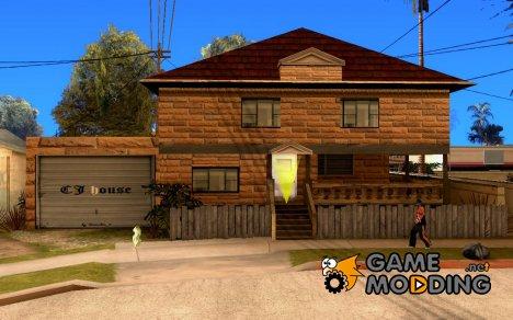 Новые текстуры дома Си-Джея for GTA San Andreas
