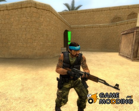 Guerilla Re-Skin (Blue Headband) для Counter-Strike Source