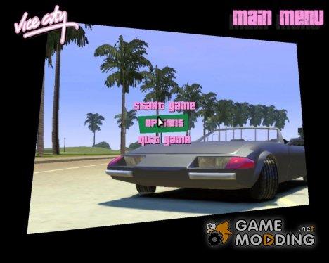 Новое меню для GTA Vice City