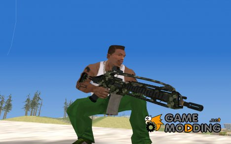SCAR-LK Hex Camo Green for GTA San Andreas