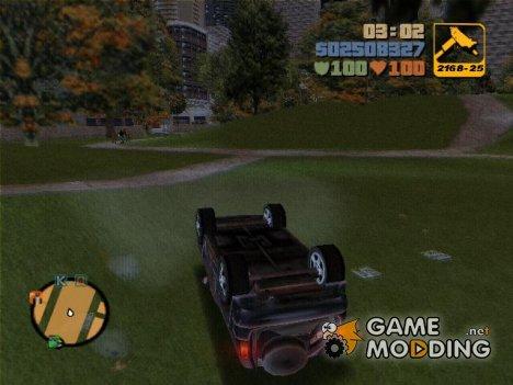 Перевёрнутые машины на колёсах for GTA 3