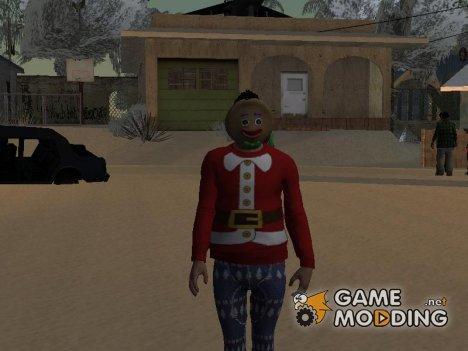Парень в маске печеньки из GTA Online для GTA San Andreas