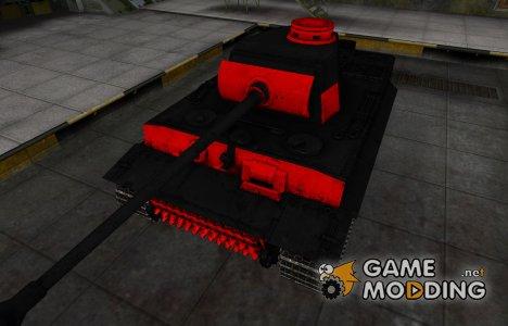 Черно-красные зоны пробития PzKpfw VI Tiger for World of Tanks