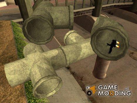 Новые канализационные трубы for GTA San Andreas