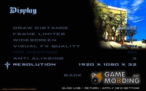 Разрешение 1920x1080 для GTA San Andreas