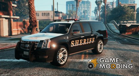 2012 Cadillac Escalade ESV Police Version Paintjobs for GTA 5