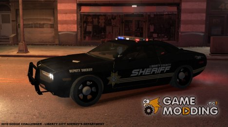 2010 Dodge Challenger - Liberty Sheriff для GTA 4