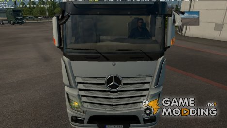 Mercedes MP4 Mirrors with Blinkers for Euro Truck Simulator 2
