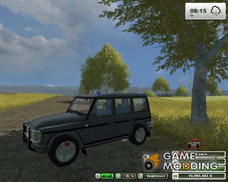Mercedes-Benz G500 Police v2.0 for Farming Simulator 2013