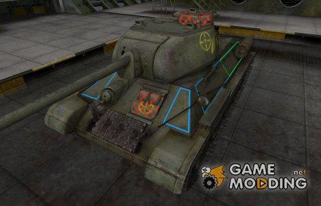Контурные зоны пробития Т-34-85 для World of Tanks
