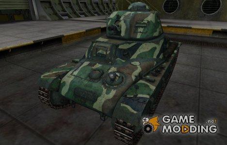 Скин с камуфляжем для Hotchkiss H35 для World of Tanks