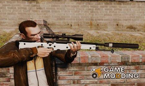 Снайперская винтовка AW L115A1 с глушителем v1 для GTA 4