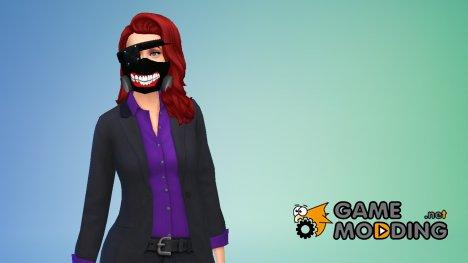 Маска токийского гуля для Sims 4
