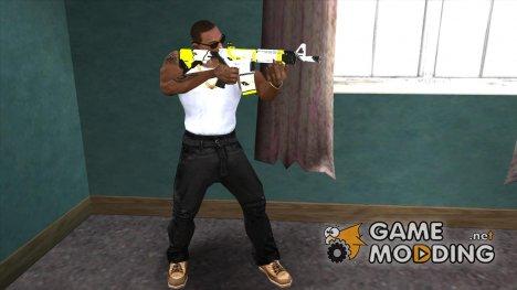 M4A1 Asiimov Lime для GTA San Andreas