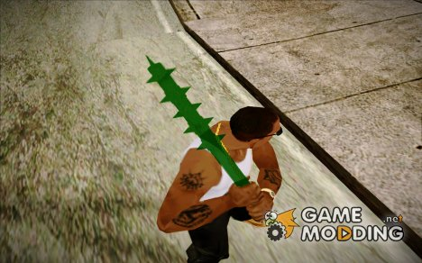 GreenLantern Spiked Bat (Injustice Gods Among Us) for GTA San Andreas