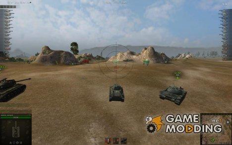 Аркадный прицел на основе коллиматорного ИС-4 К8-Т для World of Tanks