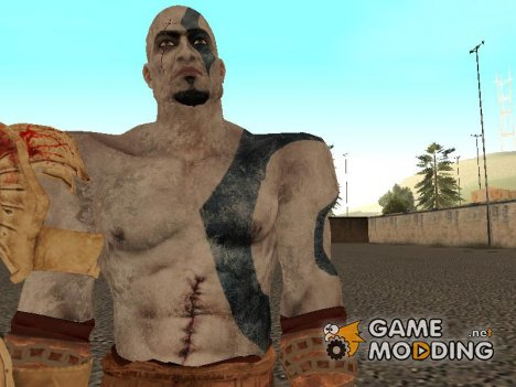 Blue Kratos from God of War 3 для GTA San Andreas