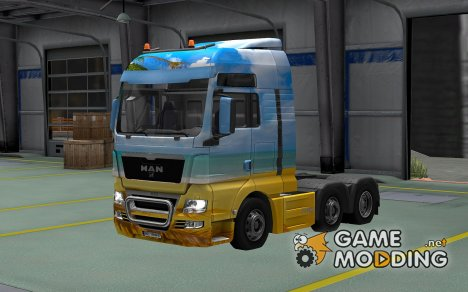 Скин Summer для MAN TGX for Euro Truck Simulator 2