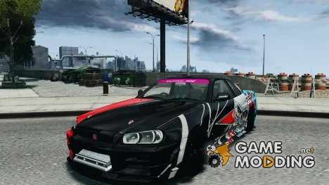 Nissan Skyline R34 Evil Empire для GTA 4