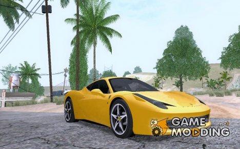 Ferrari 458 2010 для GTA San Andreas