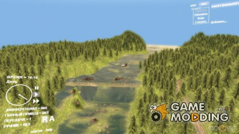 Карта German forest 001 для Spintires DEMO 2013