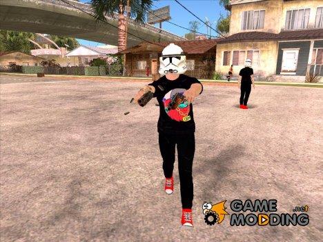 Skin HD GTA V Online в маске Star wars для GTA San Andreas