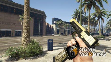 Чёрно-золотой Deagl for GTA 5