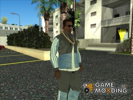 Adidas Suit Shirt Grey Blue для GTA San Andreas
