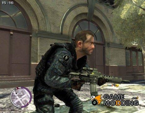 Modern Warfare Style CQC M4 v1.0 для GTA 4
